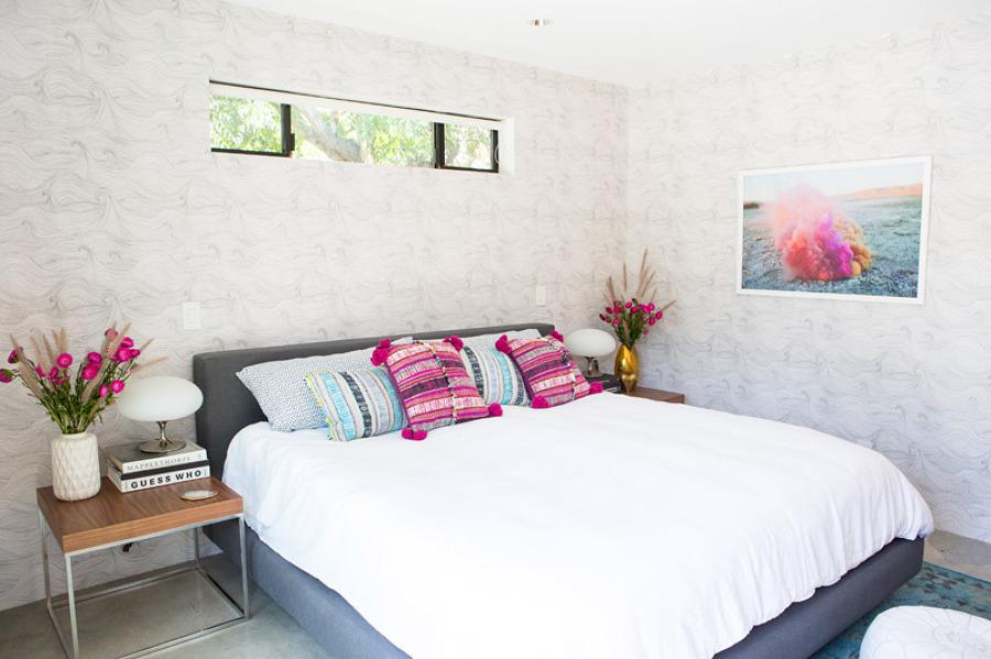 dormitorio con toques boho