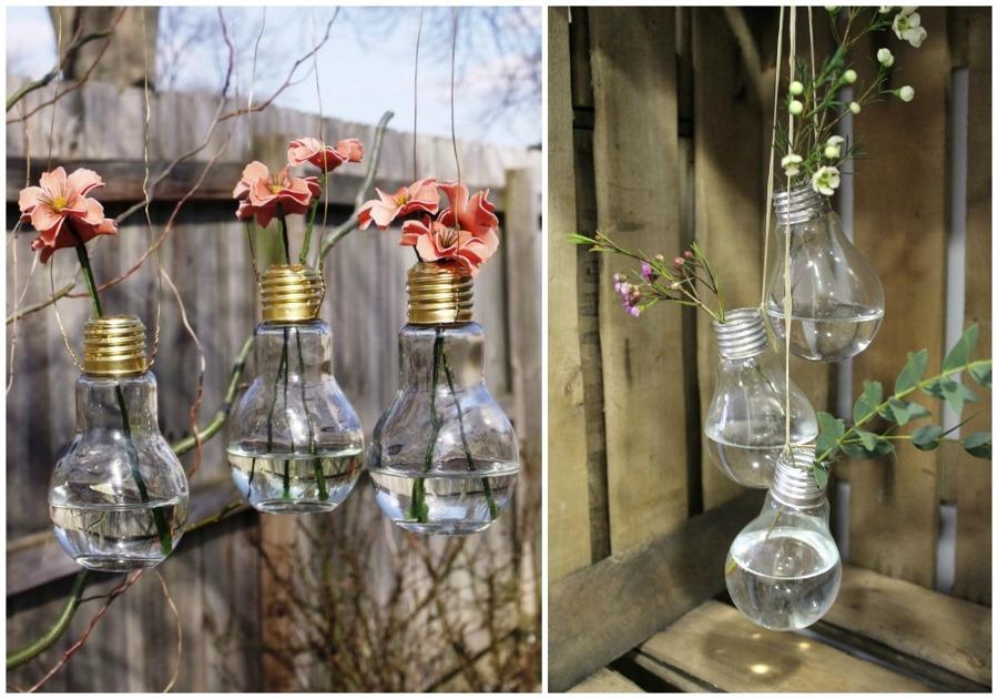 Foto bombillas recicladas jardines colgantes de ecodeco - Bombillas de decoracion ...