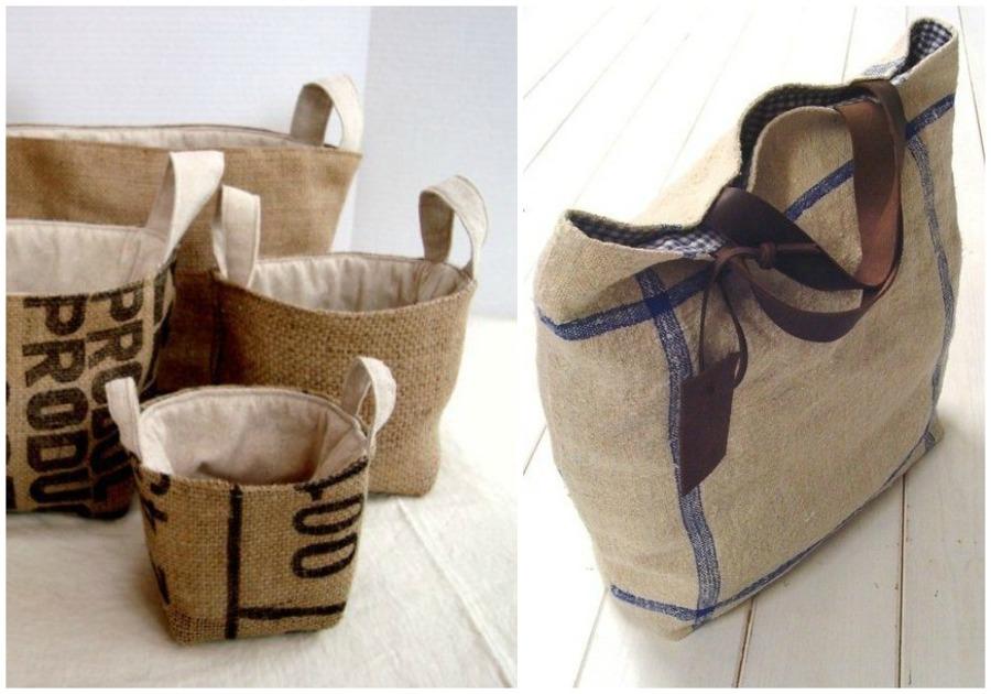 Foto bolsos de ecodeco mobiliario 929823 habitissimo - Manualidades con tela de saco ...