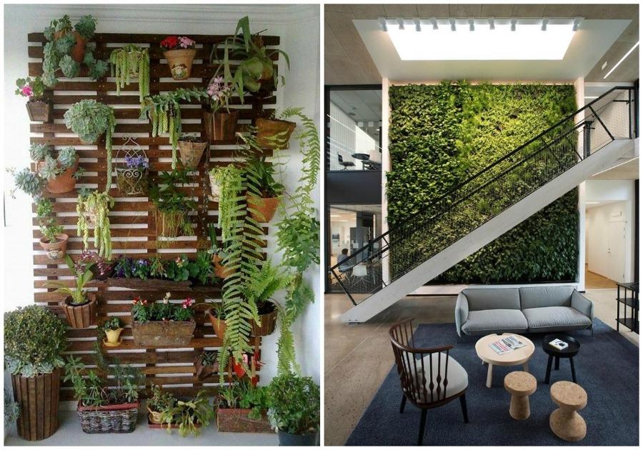 Foto 04 forrar una pared con jardin de ecodeco mobiliario for Jardines de pared para interiores