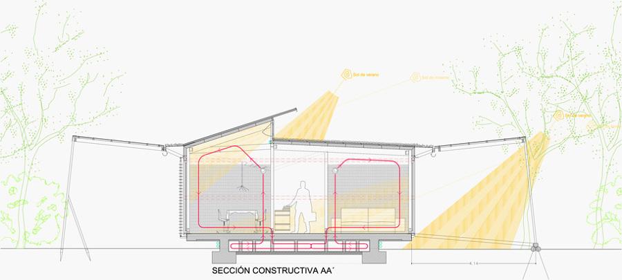 Sección vivienda bioclimática