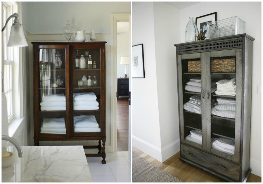 Foto armarios antiguos para el ba o de ecodeco mobiliario - Muebles antiguos para banos ...