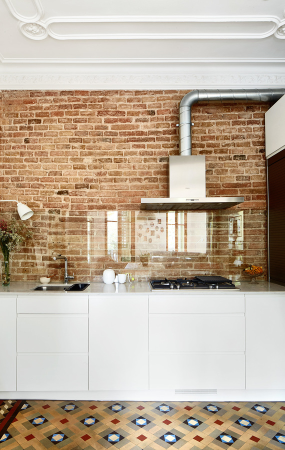 Foto cocina con frente cristal templado de ana cienfuegos - Frente cocina cristal ...