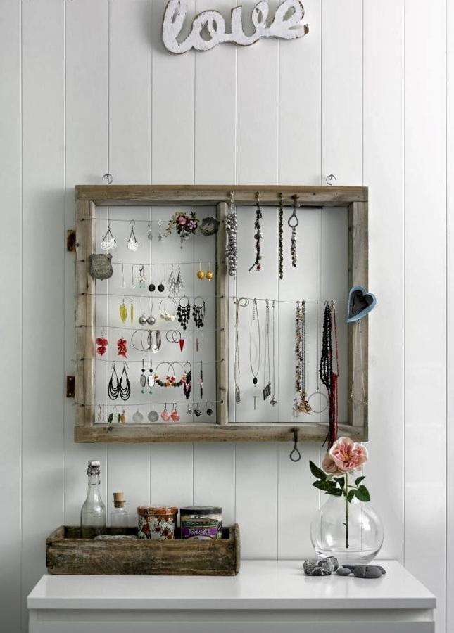 Crea tu propio colgador de pared y organiza tus collares - Colgadores de cuadros ...