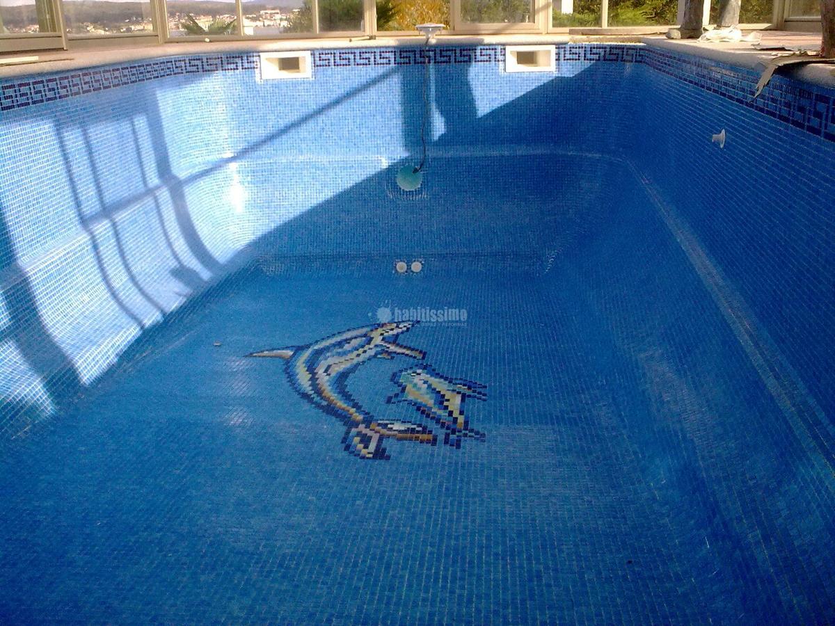 Rehabilitación de piscina de poliester con gresite