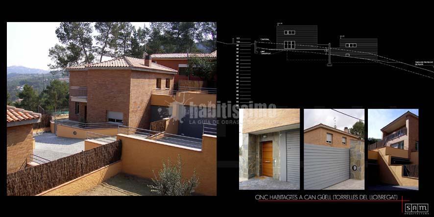 Construcción 5 casas unifamiliares