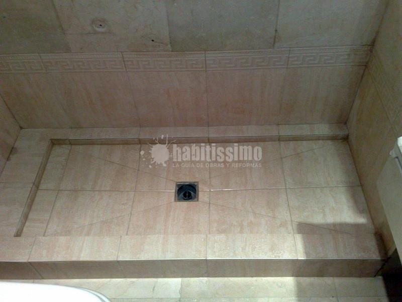 Cambio de bañera por plato de ducha de obra