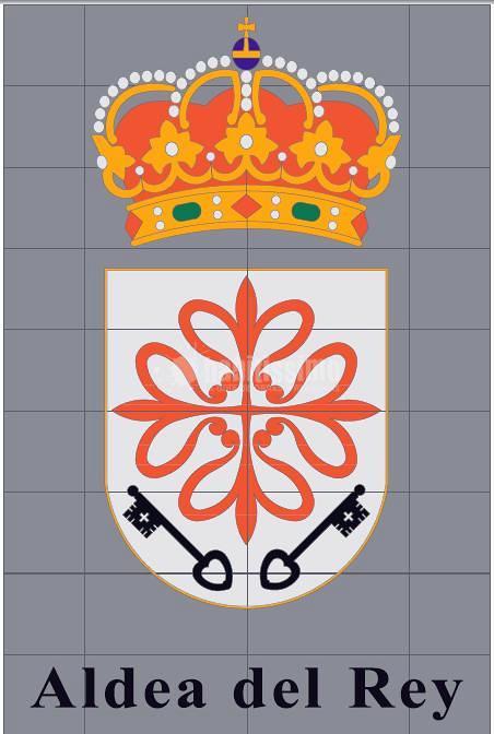 Escudo Aldea del Rey realizado en Hidrocorte