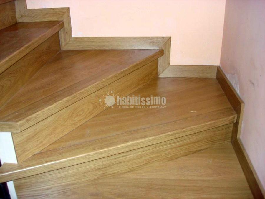 Forrado de escalera con laminado de quick step ideas - Revestir pared con madera ...
