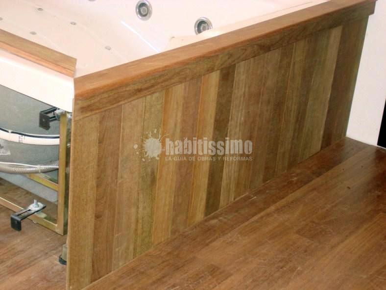 Forrado Jacuzzi en madera de Ipe