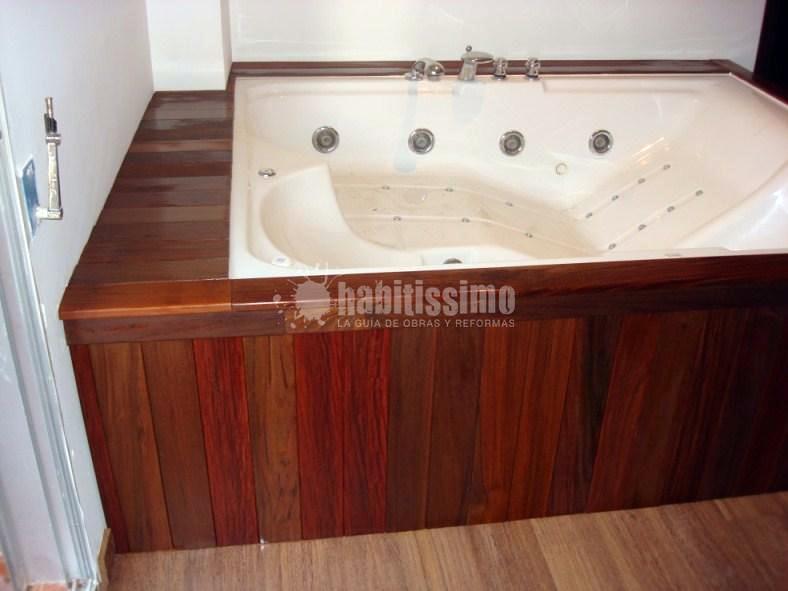 Forrado jacuzzi en madera de ipe ideas carpinteros for Precio de jacuzzi exterior