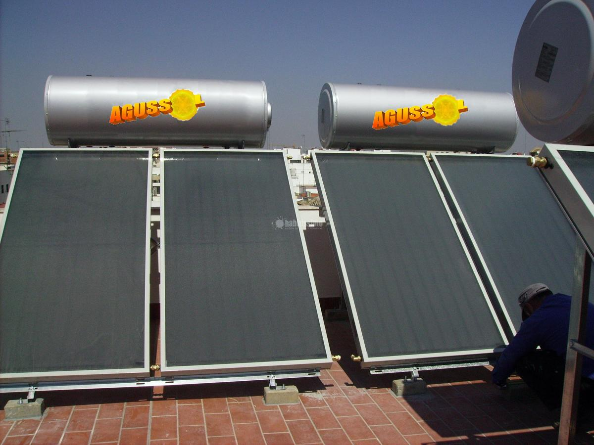 Colocación de placas solares para A.C.S.