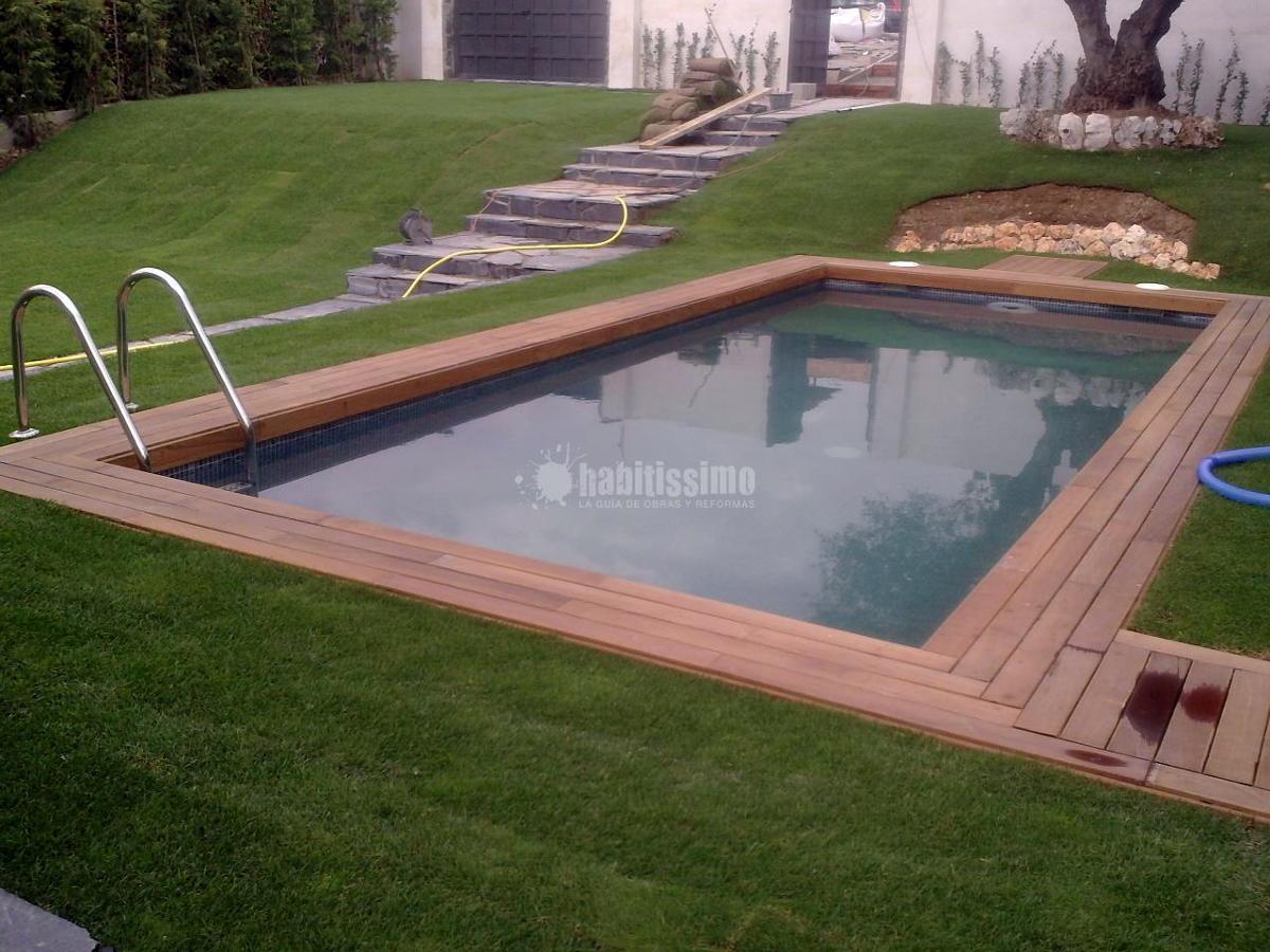 Piscina de obra de gunita proyectada ideas construcci n - Presupuestos de piscinas de obra ...