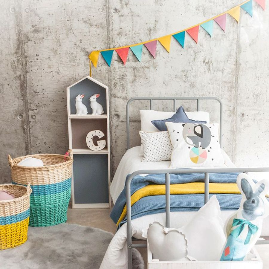 Banderines de colores para decorar un diy f cil y low - Ideas para decorar habitaciones infantiles ...