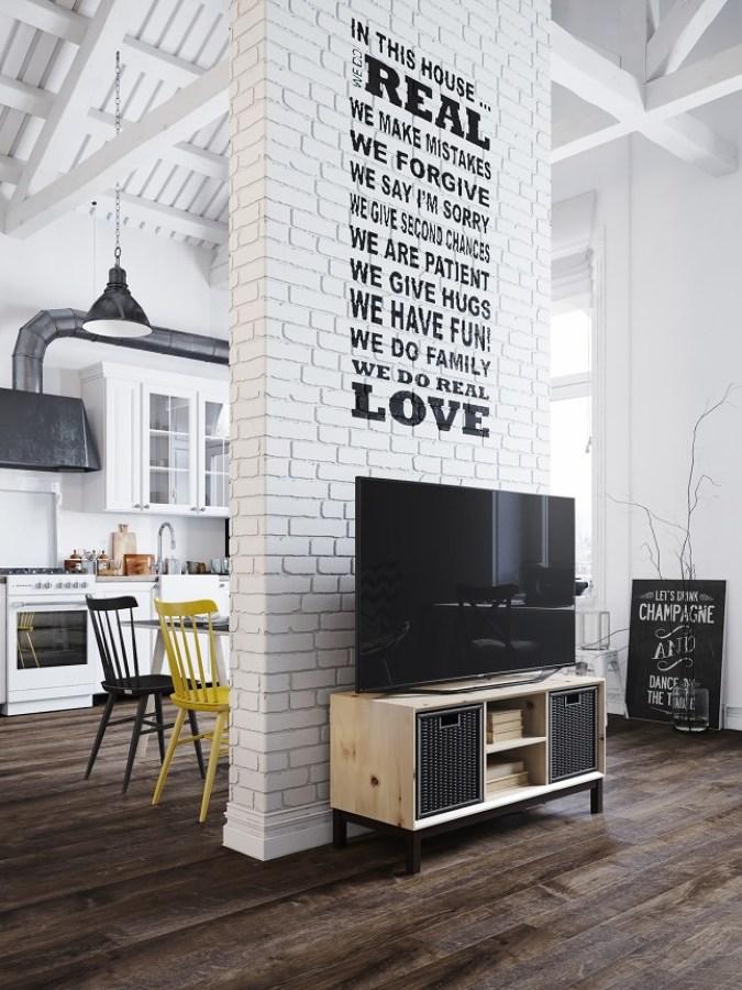 Foto: 13-muro-mueble-television-pino de Decoratualma #1191162 ...