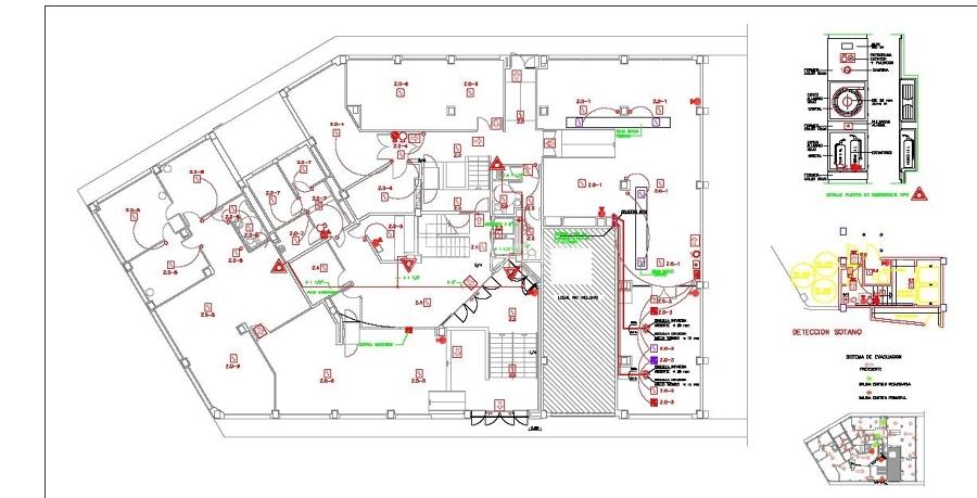Proyecto de instalaci n de protecci n contra incendios for Oficinas inss barcelona