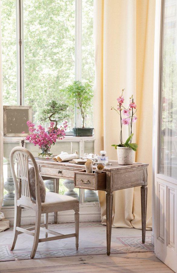 escritorio romántico