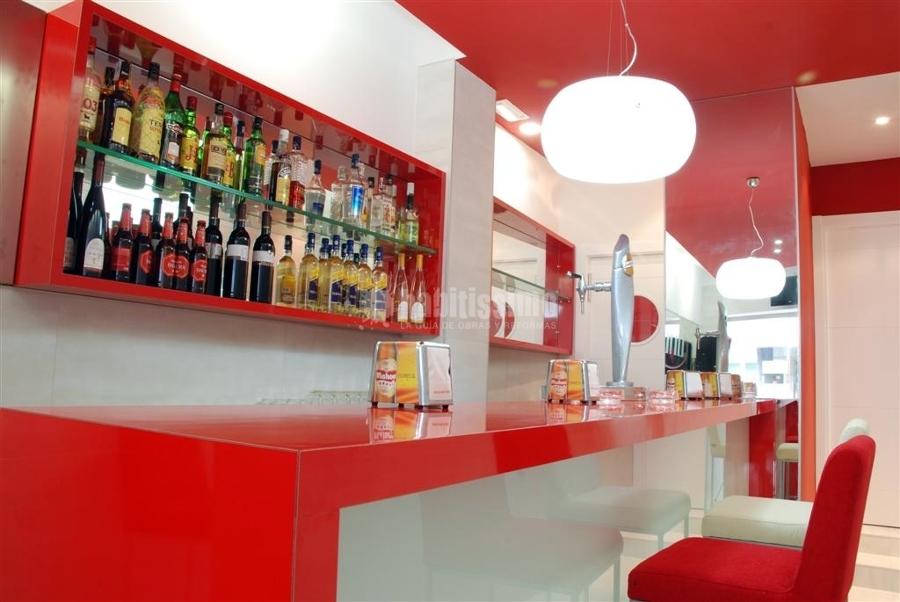 Bar peque o en ciudad real ideas reformas locales comerciales - Decoracion bares modernos ...