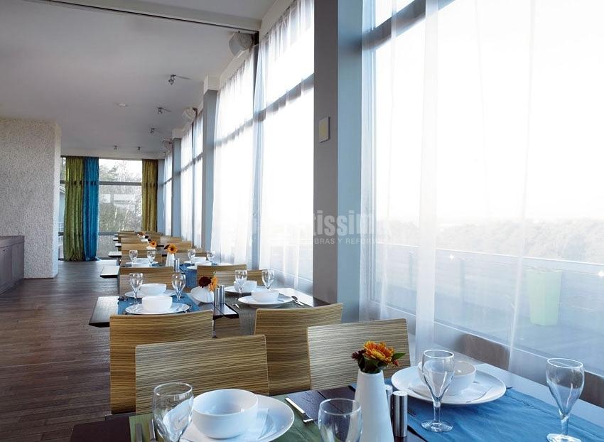 Renovación cortinas en hotel