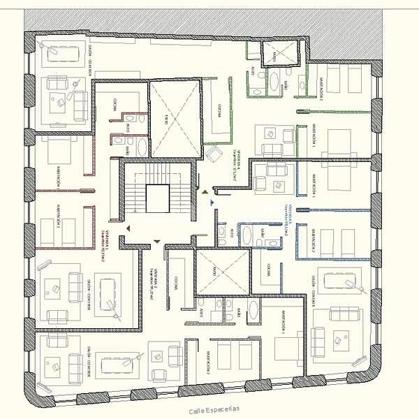 proyecto divisi n una planta de edificio antiguo en varios