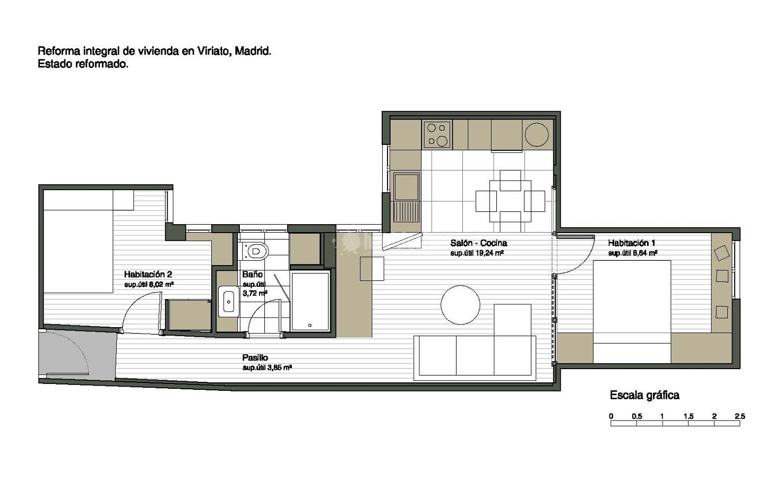 Reforma integral de vivienda en c viriato proyectos for Reforma integral de una casa
