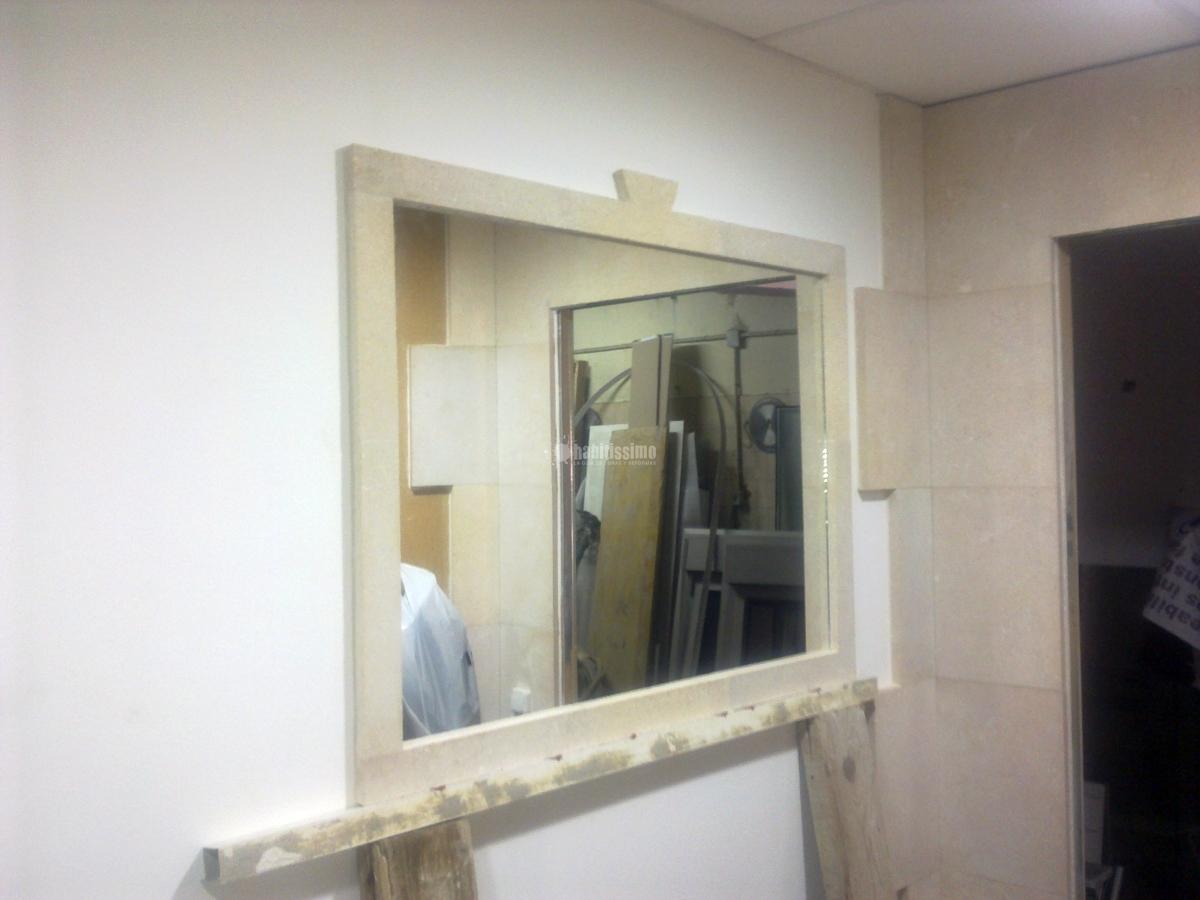 Marco de piedra para espejo ideas alba iles for Marcos para espejos de pared