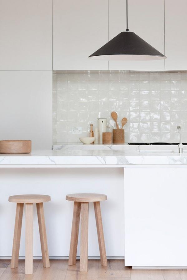 Foto cocina n rdica m rmol blanco de boho chic 899307 for Marmol blanco con vetas negras