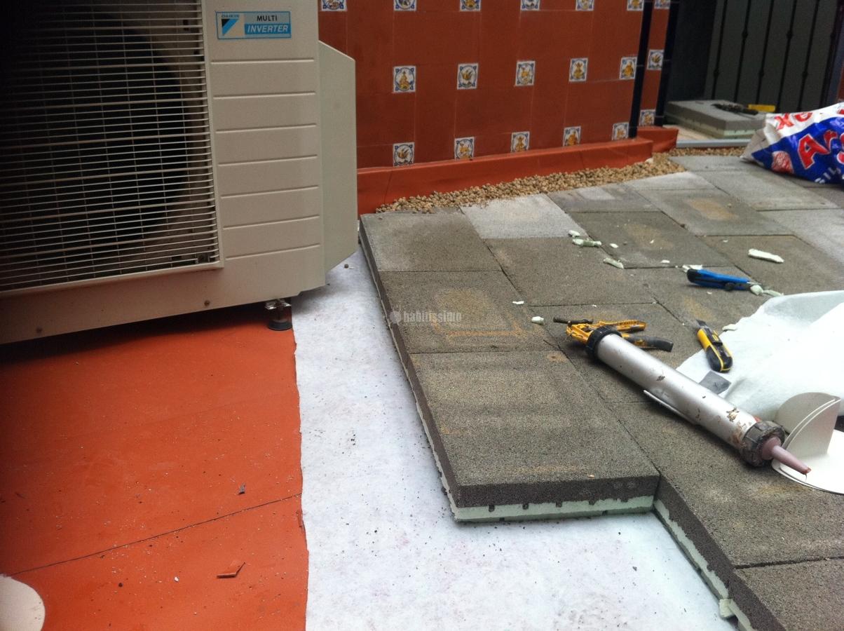 Impermeabilizaci n y aislamiento t rmico de terraza en for Cubierta piscina transitable