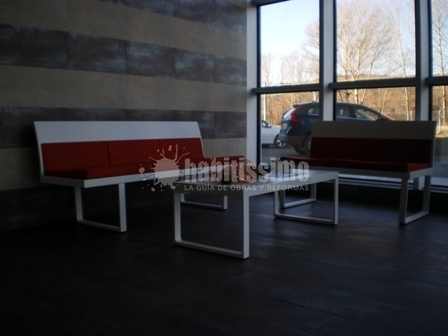 Sala de espera minimalista ideas muebles - Muebles para sala de espera ...