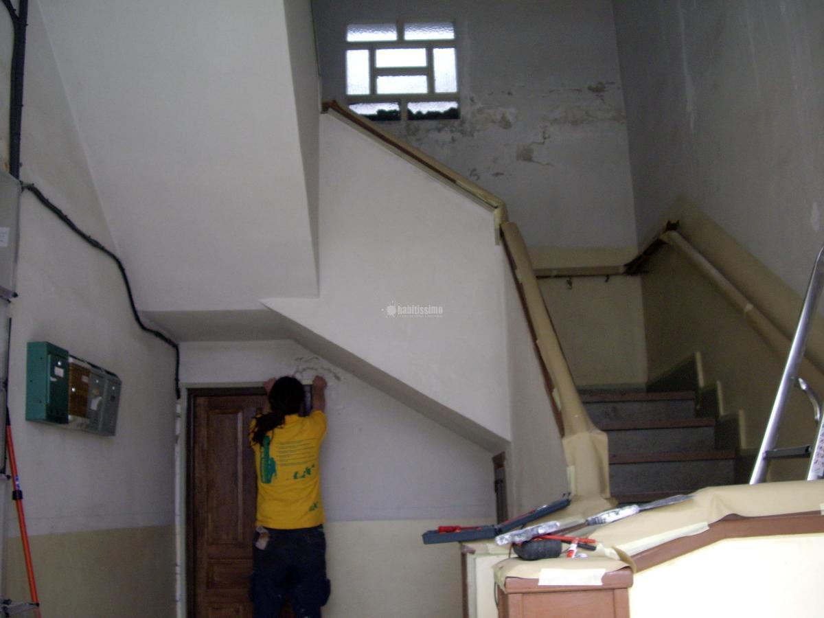 Rehabilitacion de caja escalera. Comunidad de vecionos