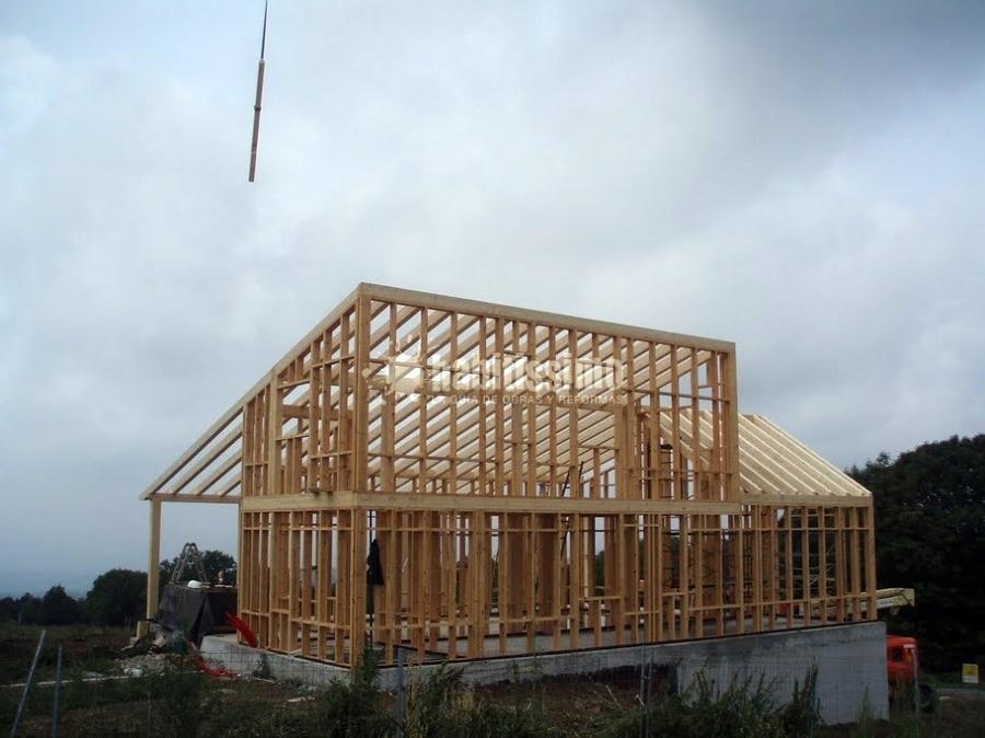 Casa con estructura de madera ideas arquitectos - Casas estructura de madera ...