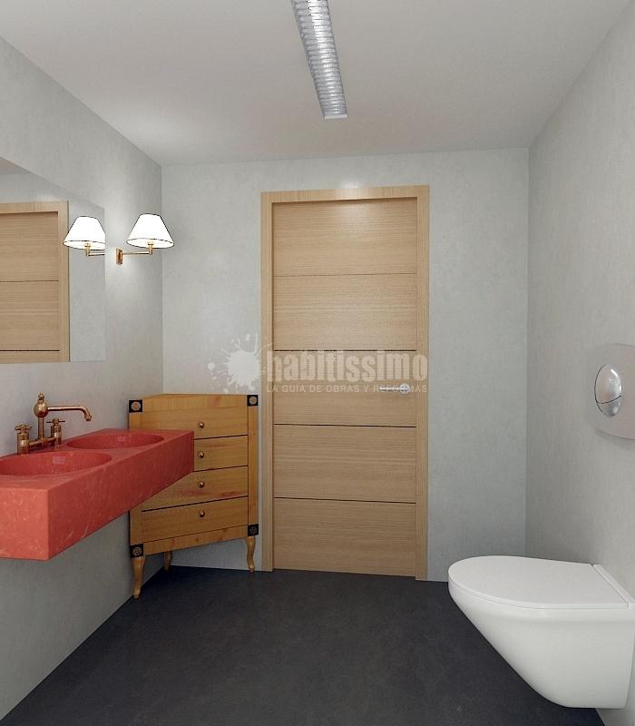 Reforma Baño Con Microcemento:Baño Realizado con Microcemento