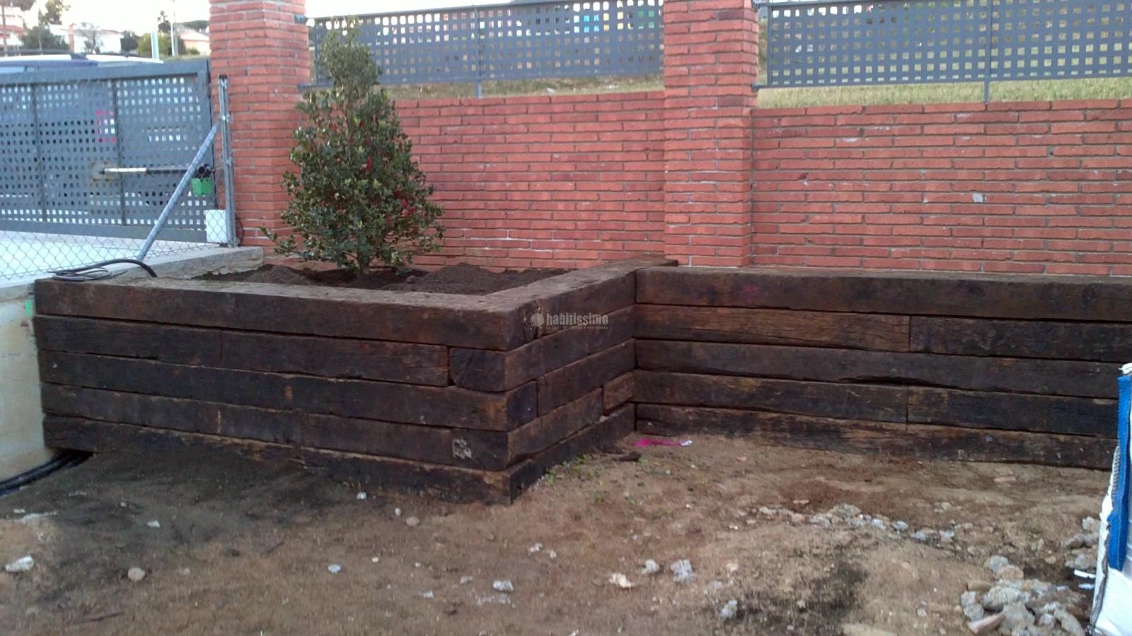 Construcci n traviesa tren jard n ideas jardineros for Casillas de madera precios