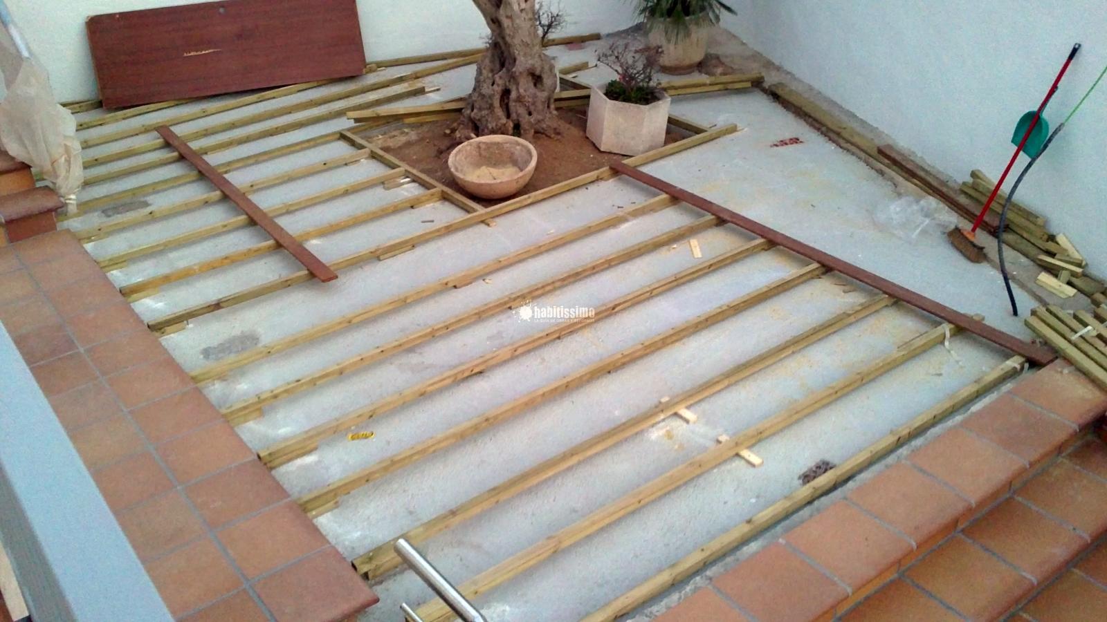 Colocación Tarima IPE Palau Solita i Plegamans
