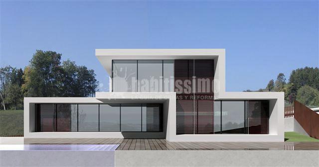 Vivienda unifamiliar en sitges ideas arquitectos - Viviendas unifamiliares modernas ...