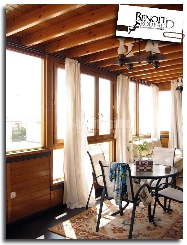 Cerramiento de terraza construcci n de casa de madera for Construccion de casas en terrazas