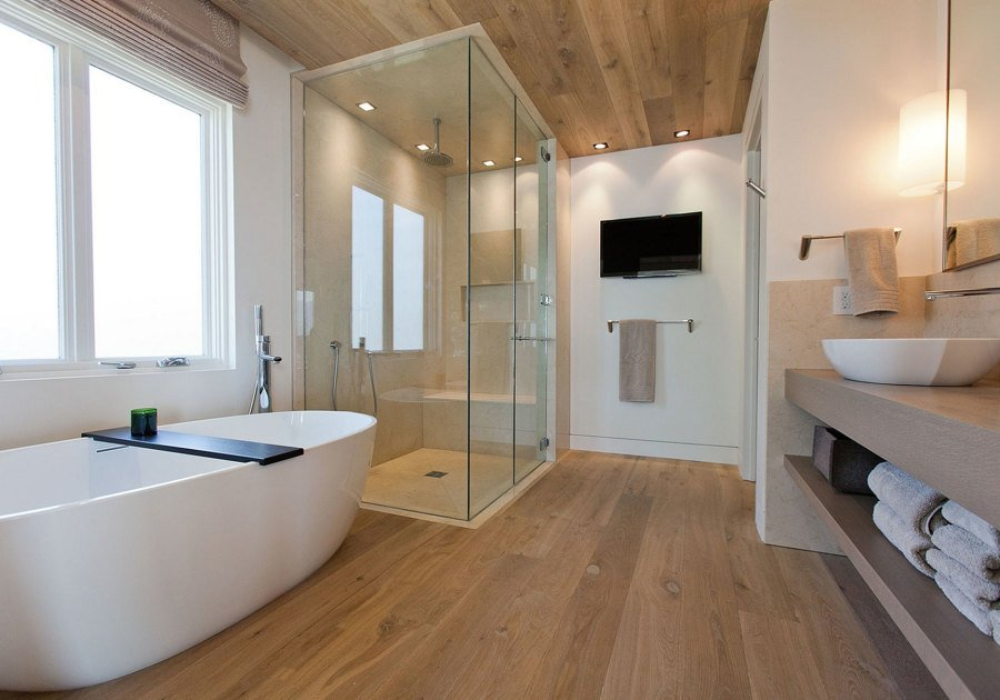 baño con sueño de bambú