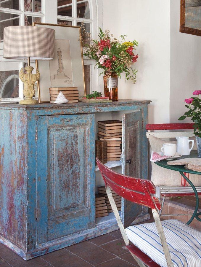 Foto mueble decapado azul de marta 841122 habitissimo for Muebles antiguos las palmas