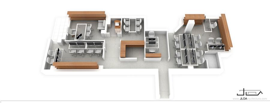 Reforma de una oficina en el centro de almer a ideas for Oficinas unicaja almeria