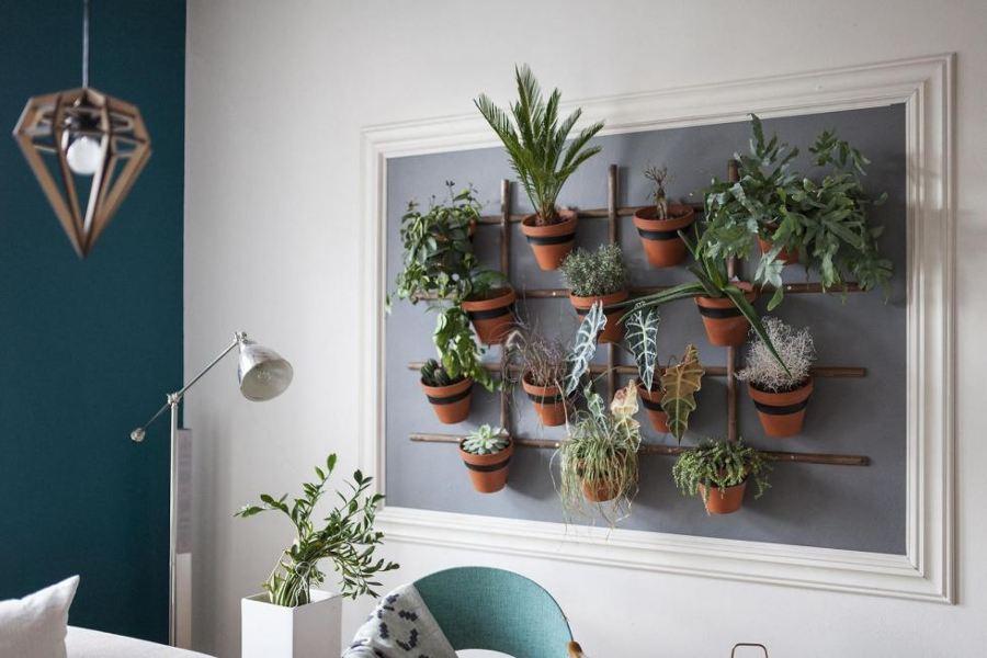 Foto jard n vertical interior de boho chic 1036098 for Jardines verticales valencia