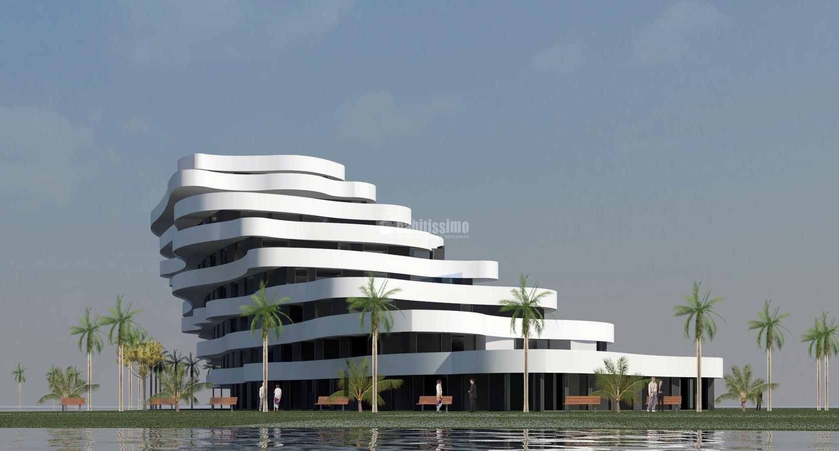 Edificio residencial en al zorah ajman emiratos arabes for Edificios minimalistas