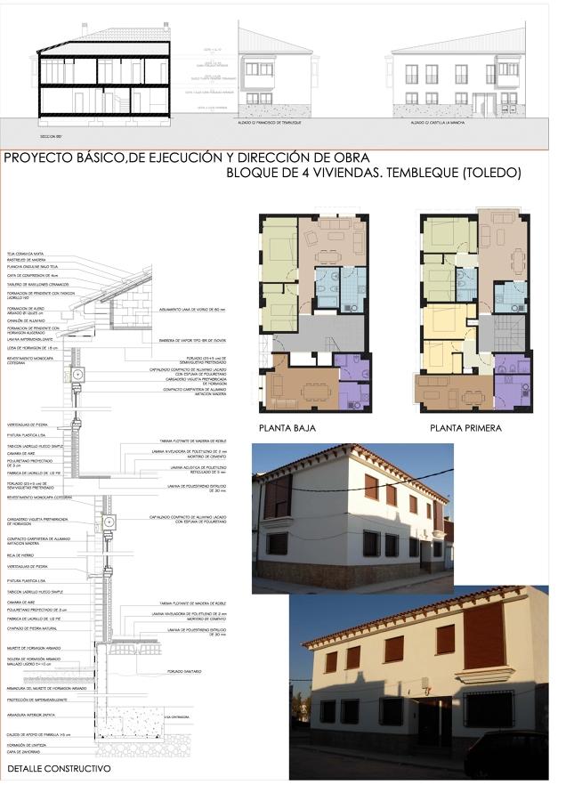 Proyecto y Dirección de Obras de 4 viviendas en Tembleque. (Toledo)