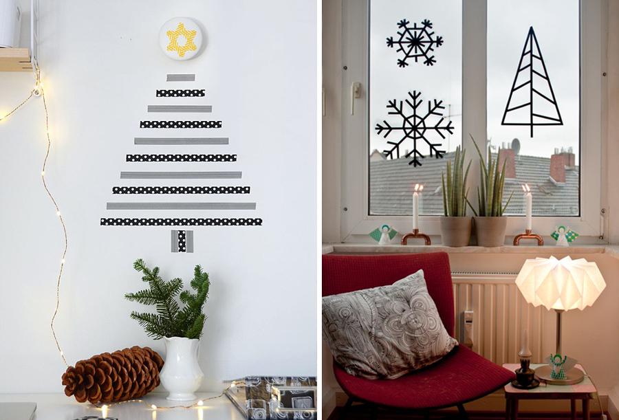 Decora tu navidad con washi tape ideas decoradores - Como se decora un arbol de navidad ...
