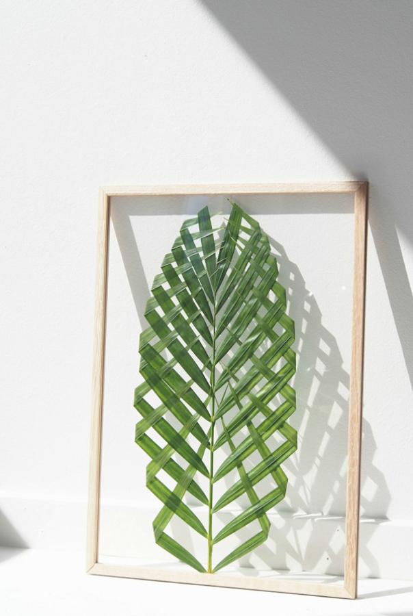Foto: 3-DIY-resultado-decoratualma-DTA-hoja-de-palmera-enmarcada de ...