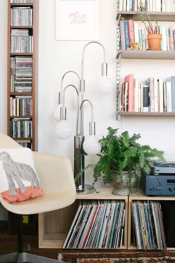 Decoración con lámpara vintage