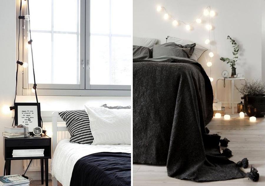 guirnaldas dormitorio