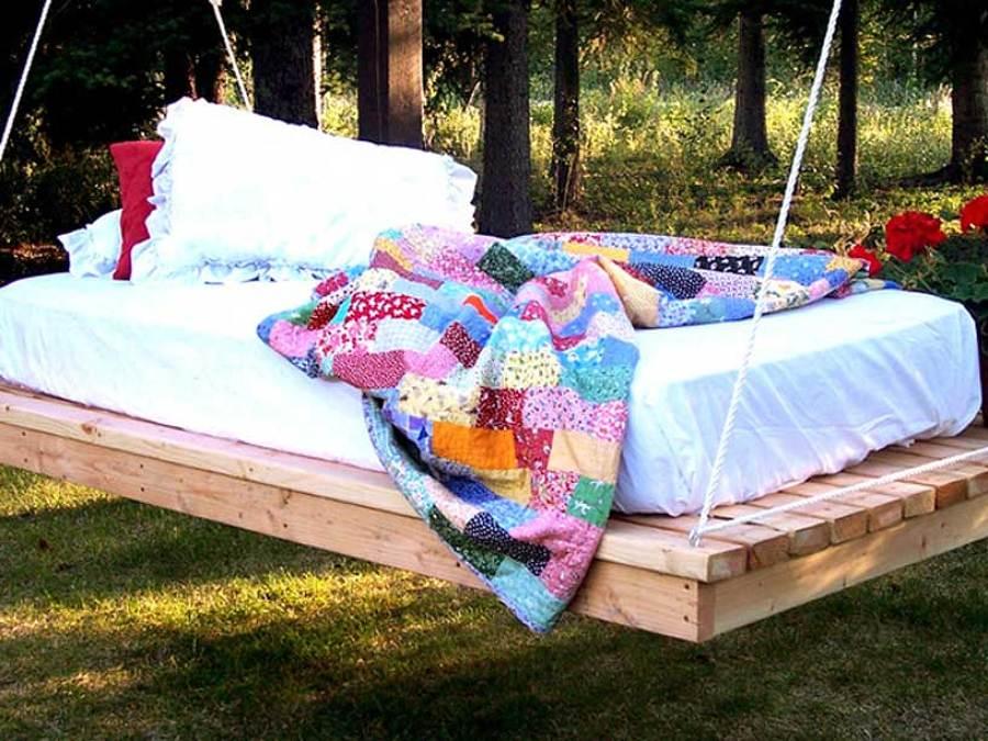 C mo hacer una cama colgante en el jard n ideas jardineros for Camas balinesas para jardin