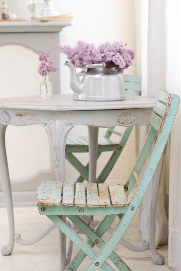 silla turquesa