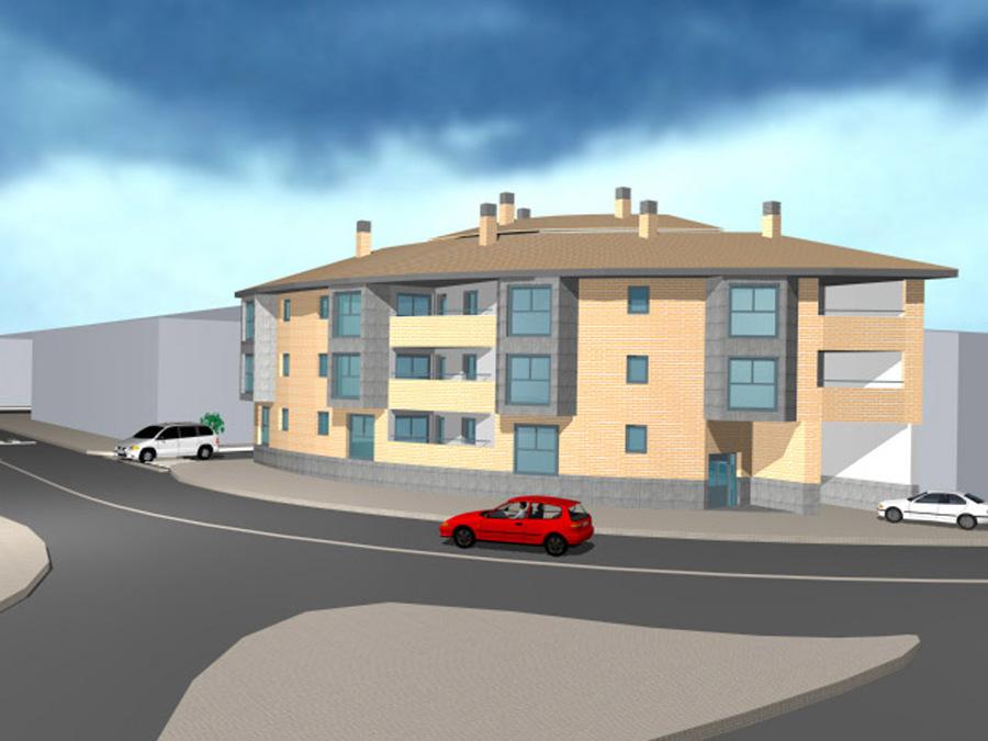 3D Edificio Zaragoza en Zuera 2.