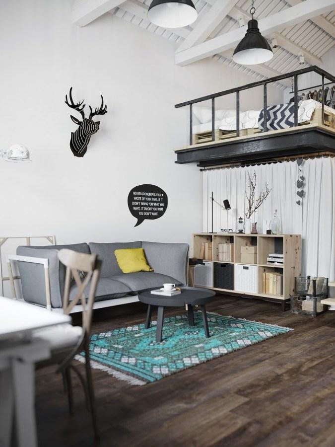 Foto: 4-Altillo-decorar-pisos-pequeños-espacio-decoratualma-loft de ...